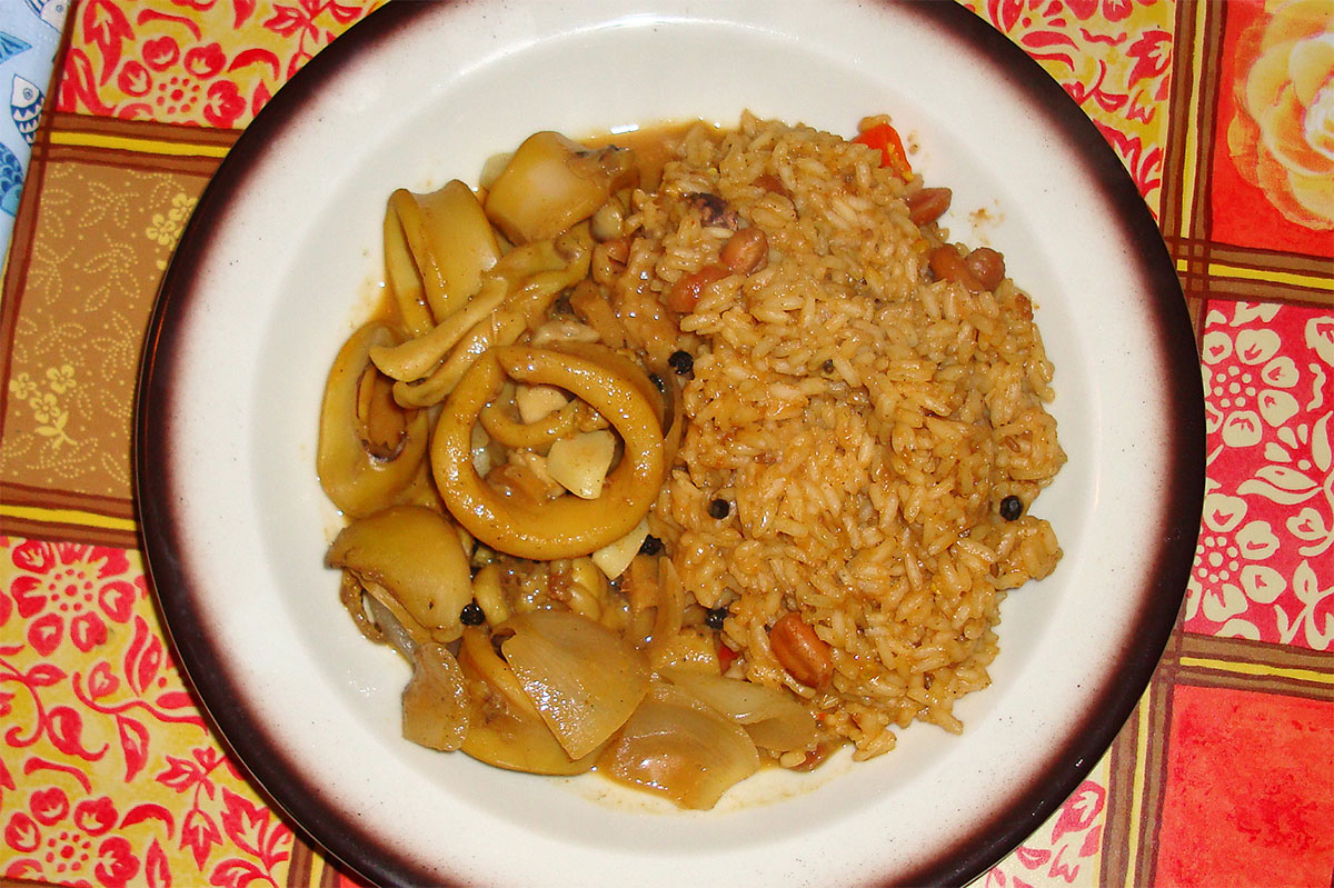 Tintenfisch-Curry nach Kerala-Art