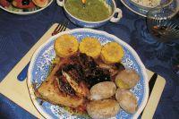 Pollo al salmorejo (Huhn in pikanter Sauce)