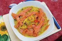 Suppe mit Räucherlachs