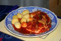 Thunfisch mit Meeresfrüchten und Gemüsereis oder Kartoffeln