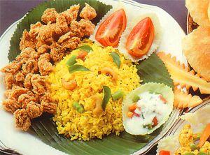 Biriyani (Gewürzter Reis mit Lamm, Huhn oder Gemüse)
